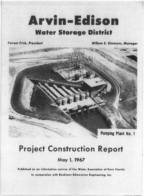 AEWSD Project Construction Report cover page, May 1, 1967